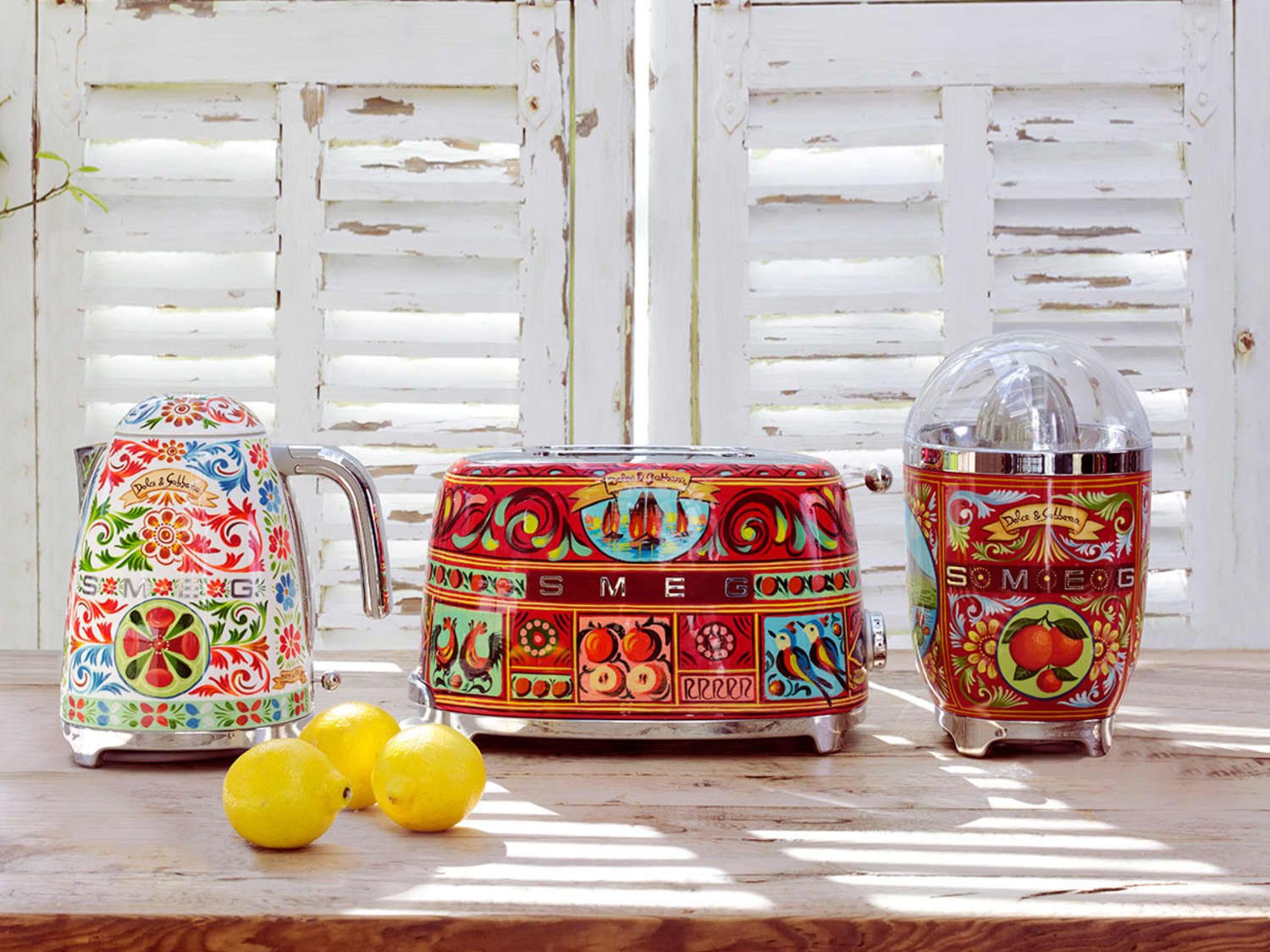 Smeg Dolce Gabbana Sicily Toaster Juicer Kettle Preorder Apartment Therapy