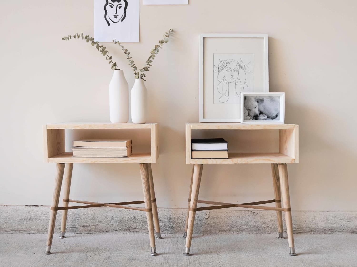 How To Build Simple Wood Nightstands Apartment Therapy