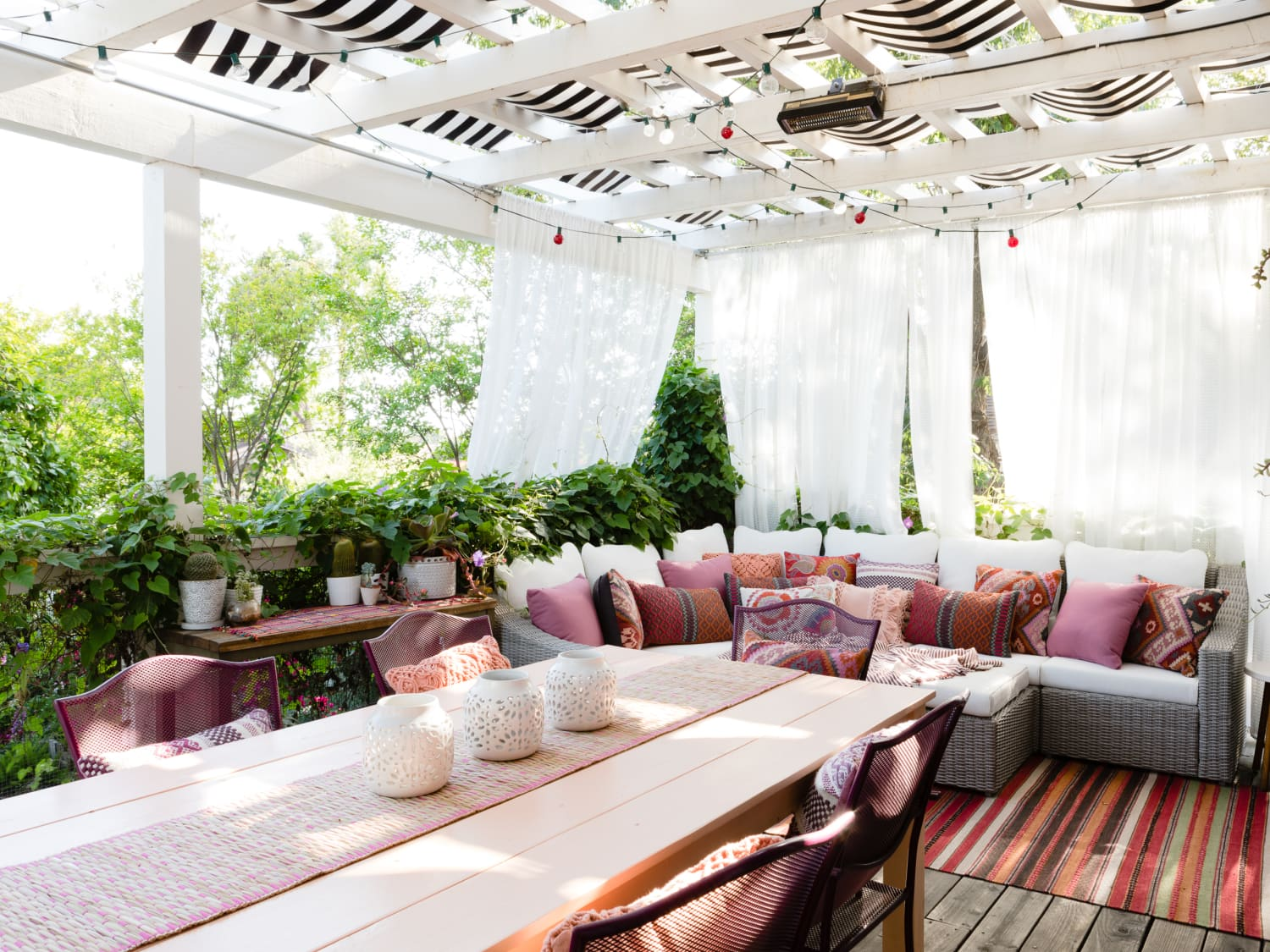 How To Shade Your Outdoor Space Maximize Its Privacy Apartment Therapy