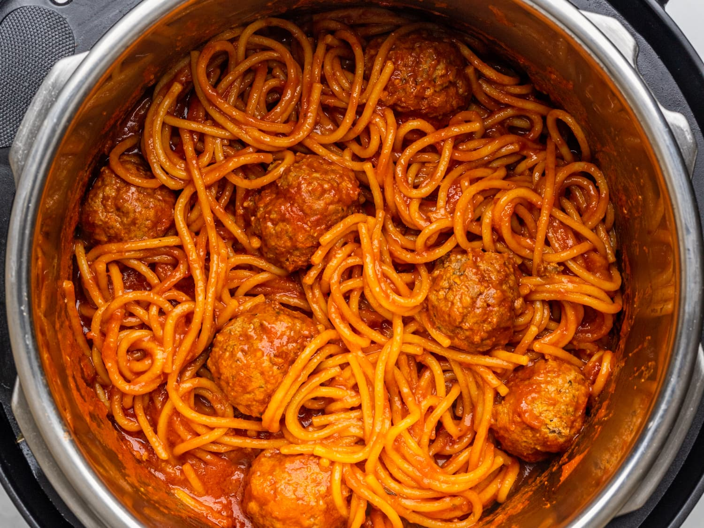 Instant Pot Spaghetti And Meatballs Recipe Kitchn