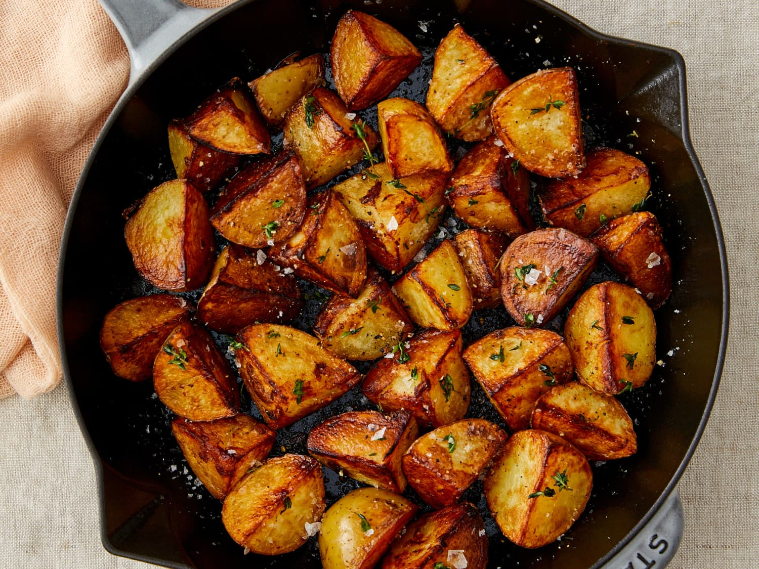 Crispy Skillet Fried Potatoes Recipe Kitchn