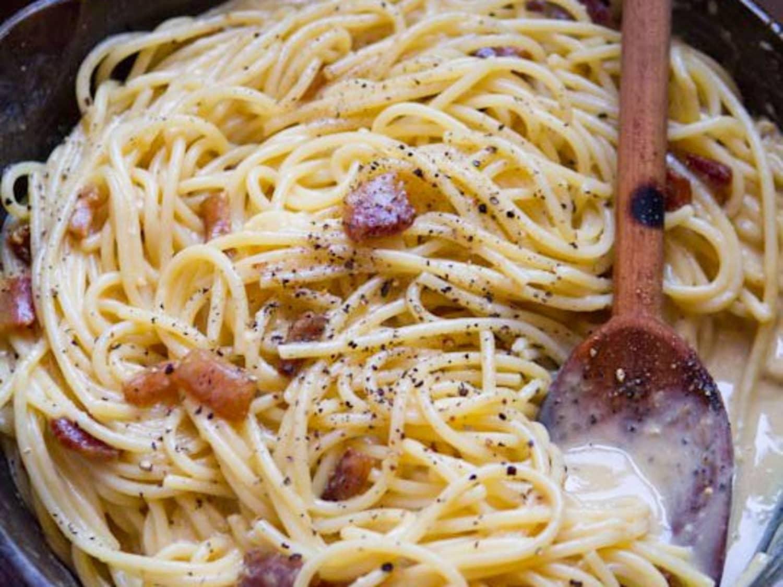 Recipe Authentic Spaghetti Alla Carbonara Kitchn