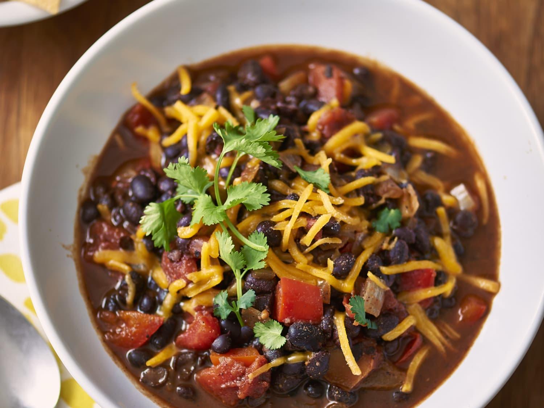 Recipe Slow Cooker Black Bean Chili Kitchn