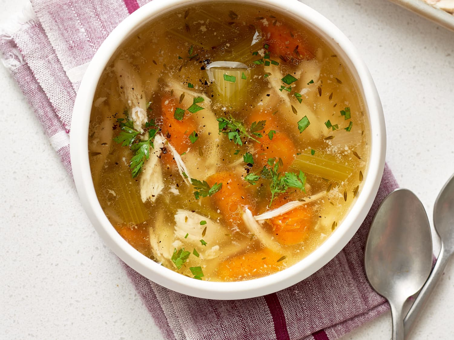 Recipe: Slow Cooker Whole Chicken Soup | Kitchn