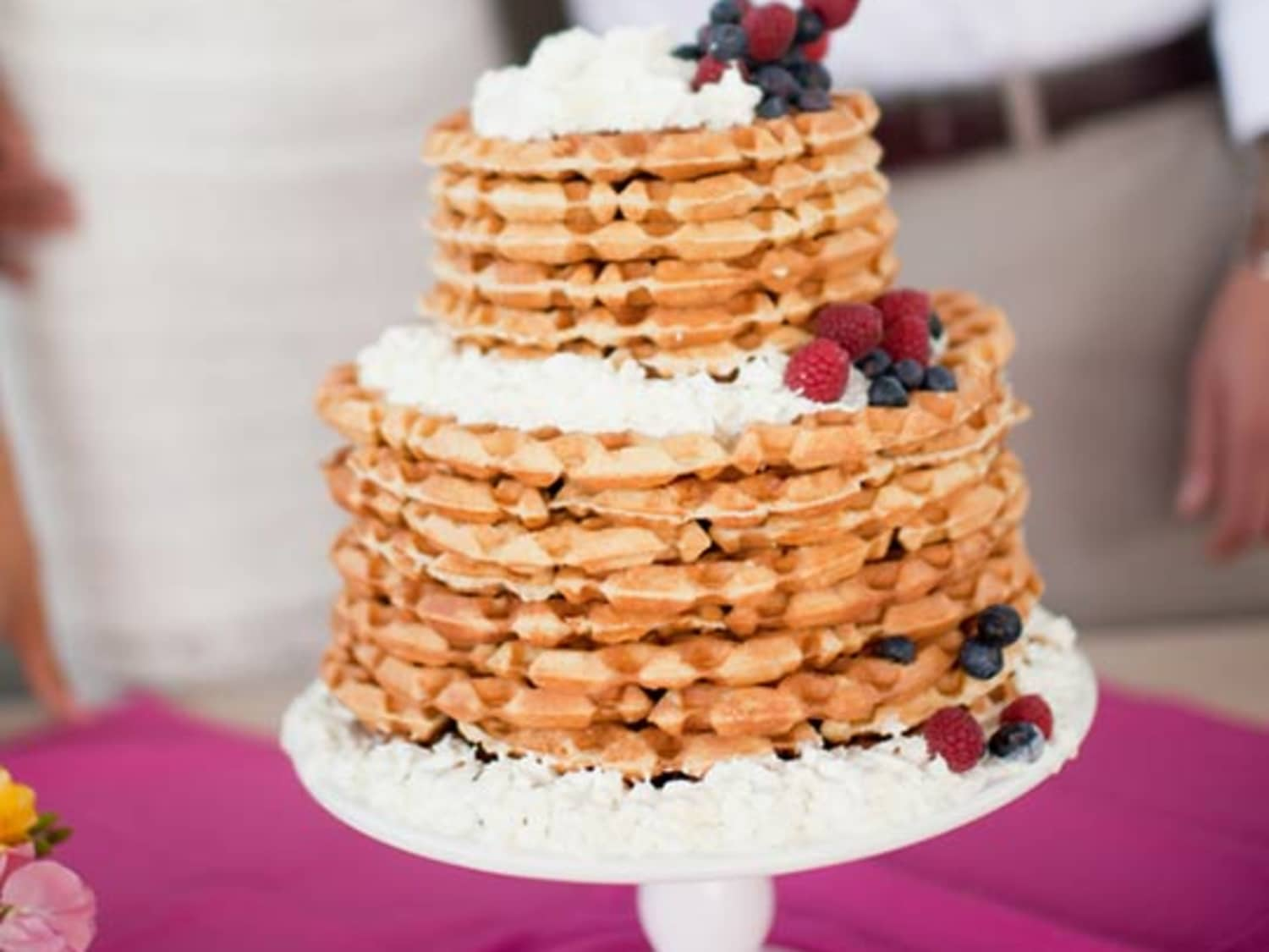 Look A Waffle Wedding Cake Kitchn