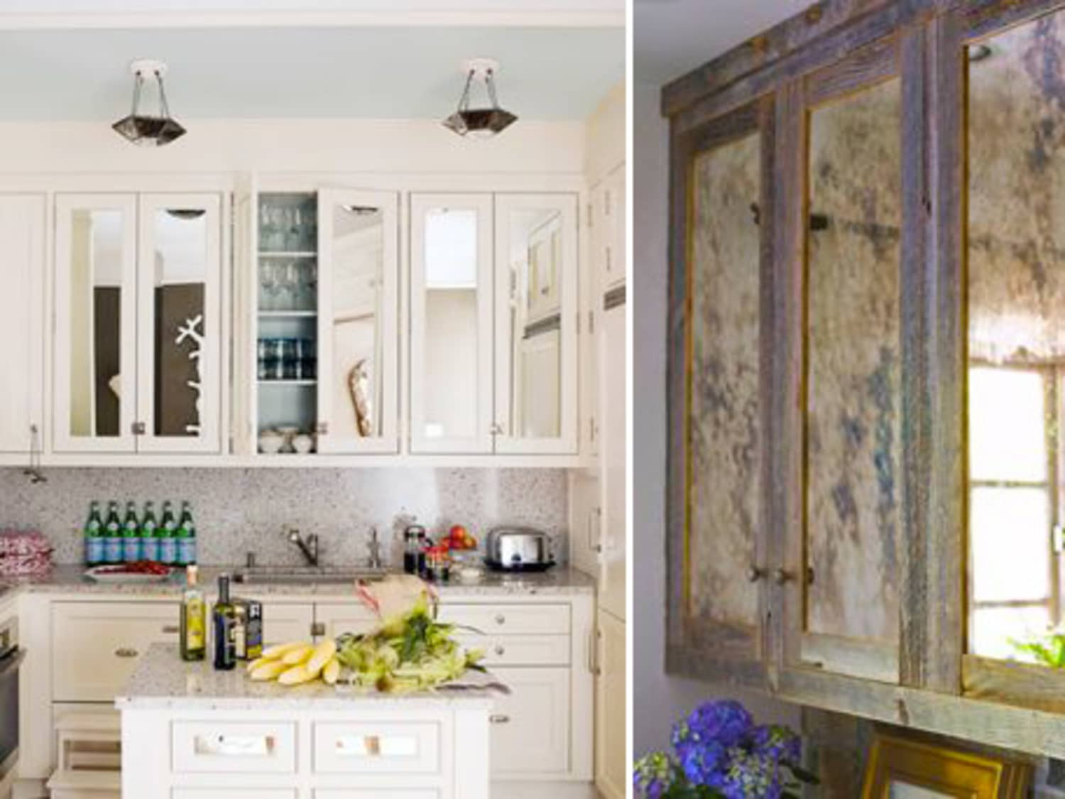 Mirrored Kitchen Cabinets Mirrored Cabinets: Check Your Hair While You Cook! | Kitchn