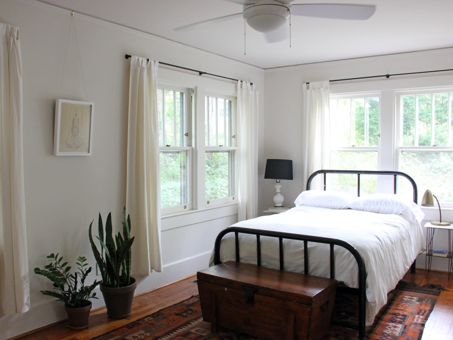 How To Hang Curtains Without Drilling Into Walls Apartment Therapy