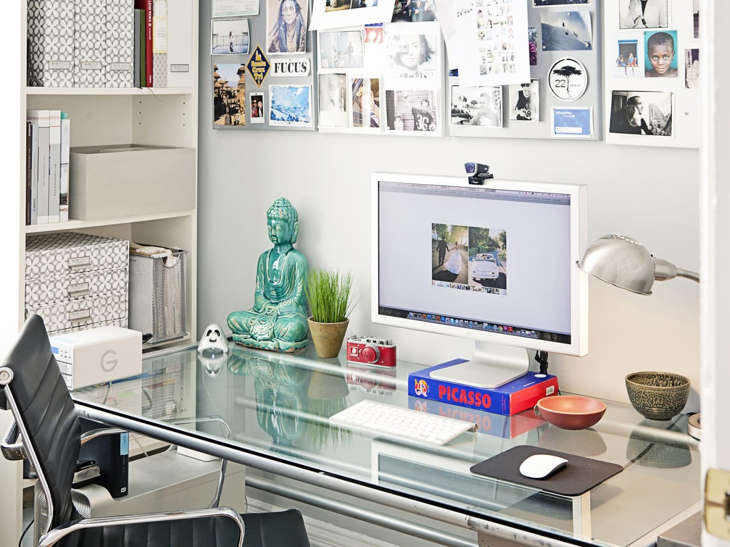 49 Ways to Organize a Desk Without Drawers  Apartment Therapy