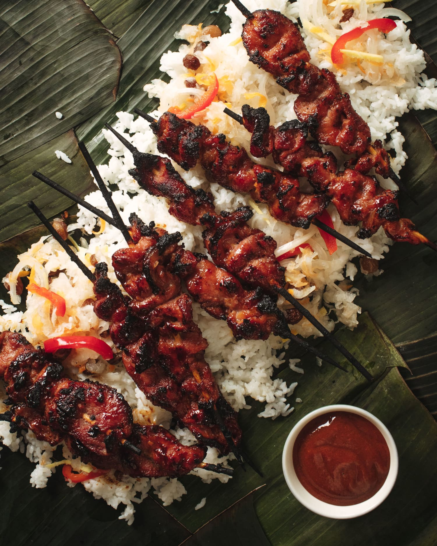 Glazed Tocino Skewers Represent the Pure Joy of the Kamayan Feast