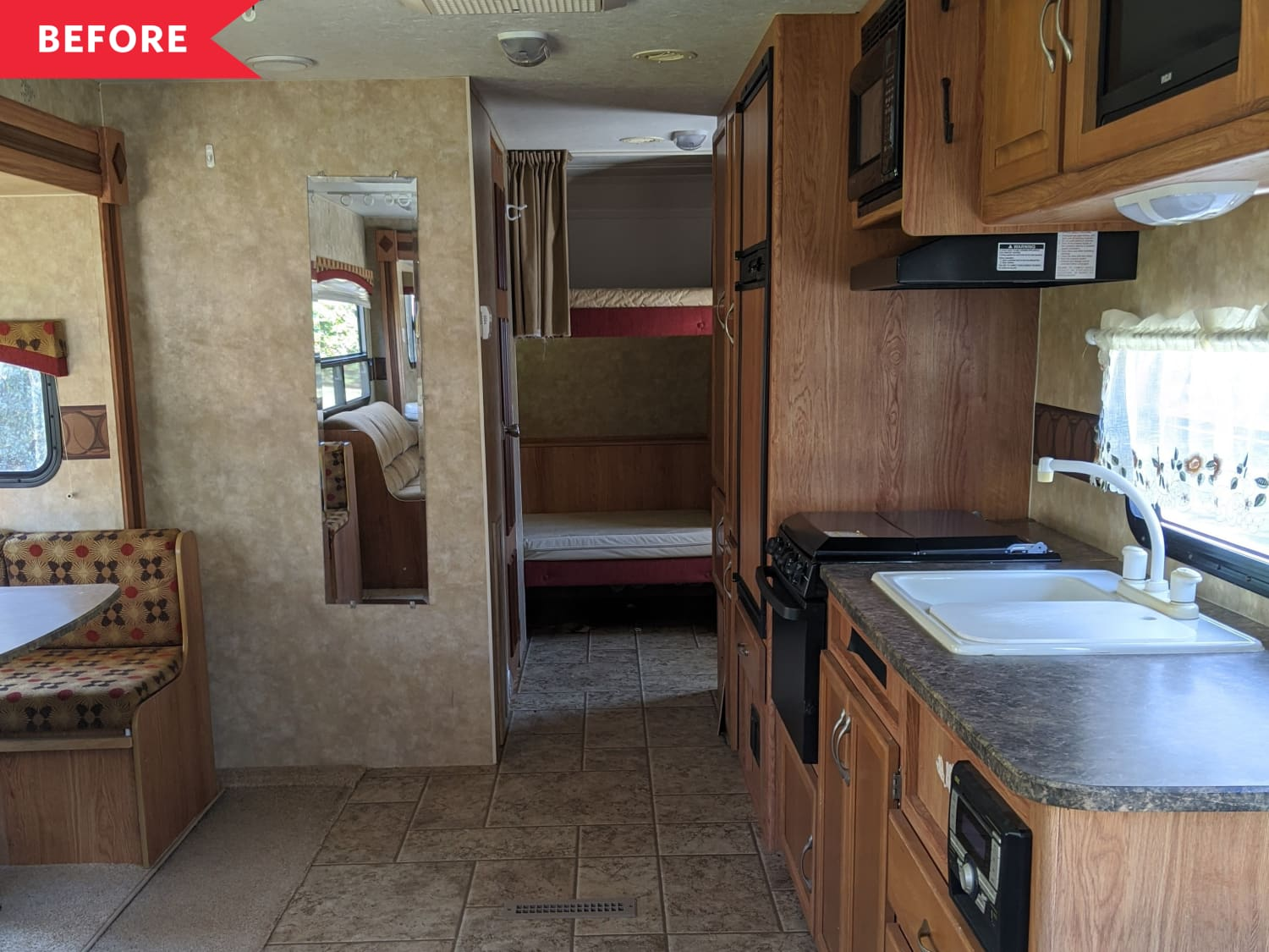 Before & After: A Dark, Outdated RV Becomes a Boho-Modern Haven
