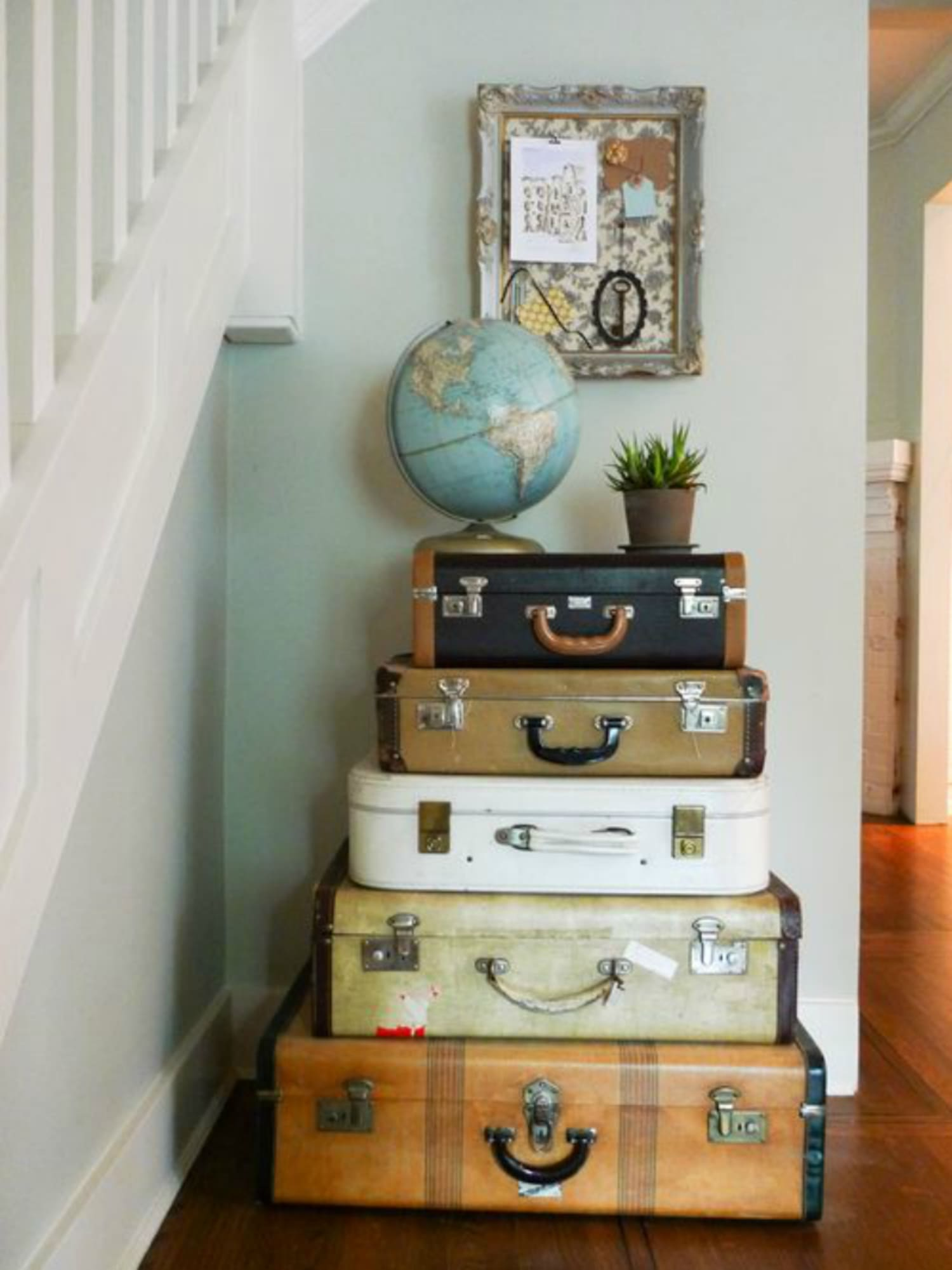 How to Repurpose Old Luggage and Suitcases