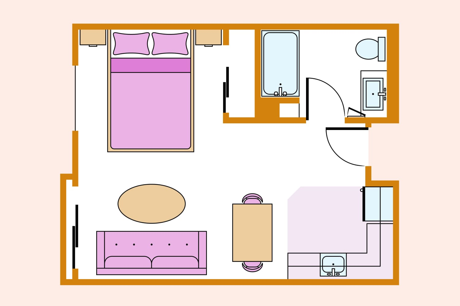 3 Studio Apartment Layout Ideas You Should Steal from One Very Creative Home Expert