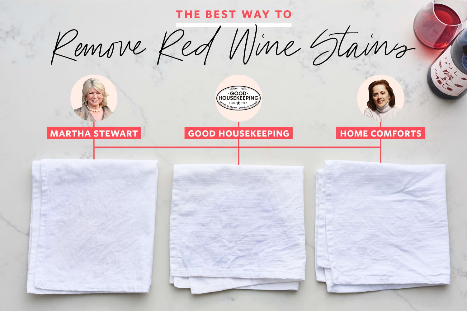 We Tested 3 Popular Methods for Removing Red Wine Stains and Found a Clear Winner