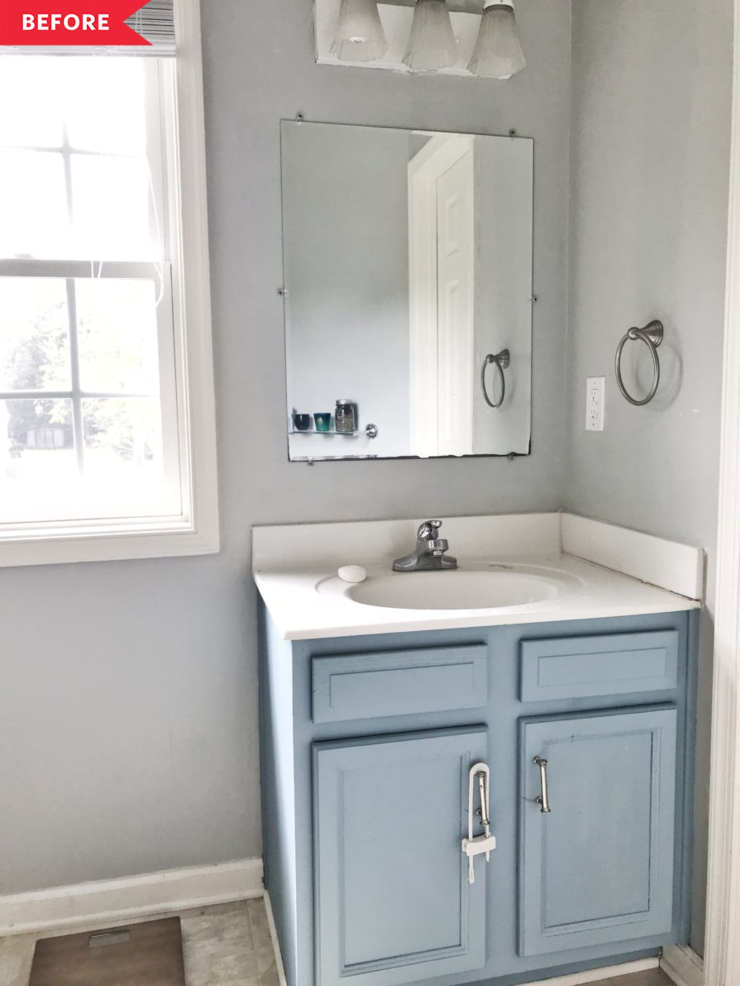 Before and After: This Builder-Grade Bathroom's Chic Transformation Cost Under $500