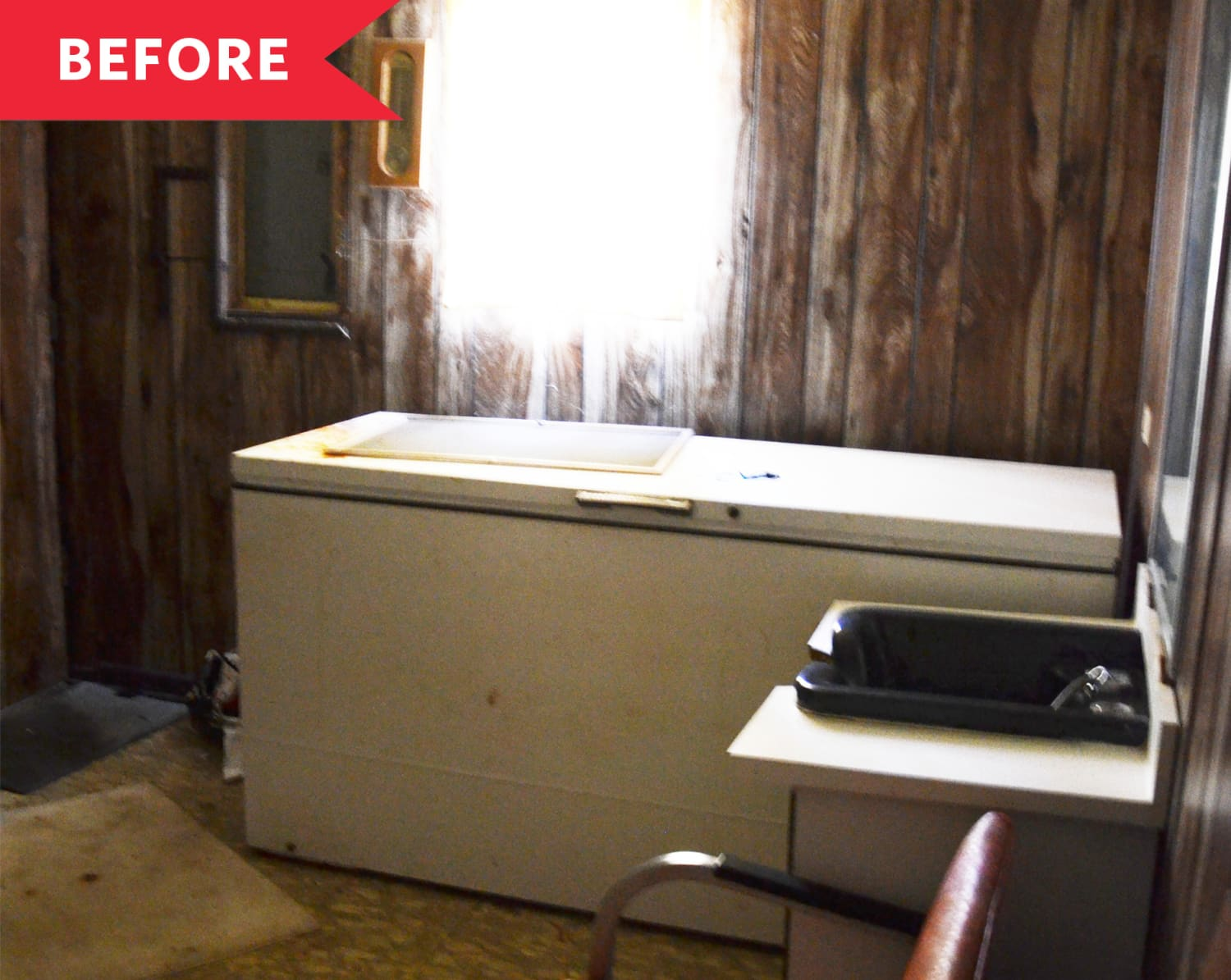 Before and After: This Floral Laundry Room Makes Chores Feel… Luxurious??