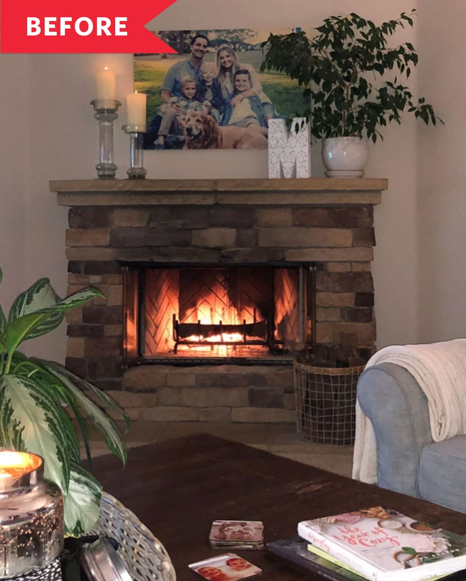 Before and After: A Dreamy Fireplace Just in Time for the Holiday Season