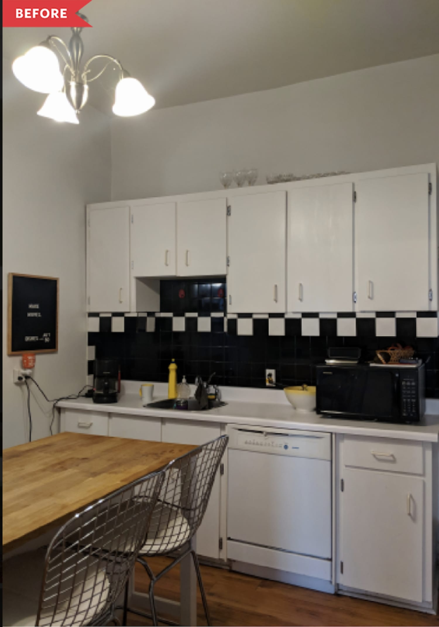 Before and After: A $1000 Rental Kitchen With One Luxe-Looking IKEA Hack