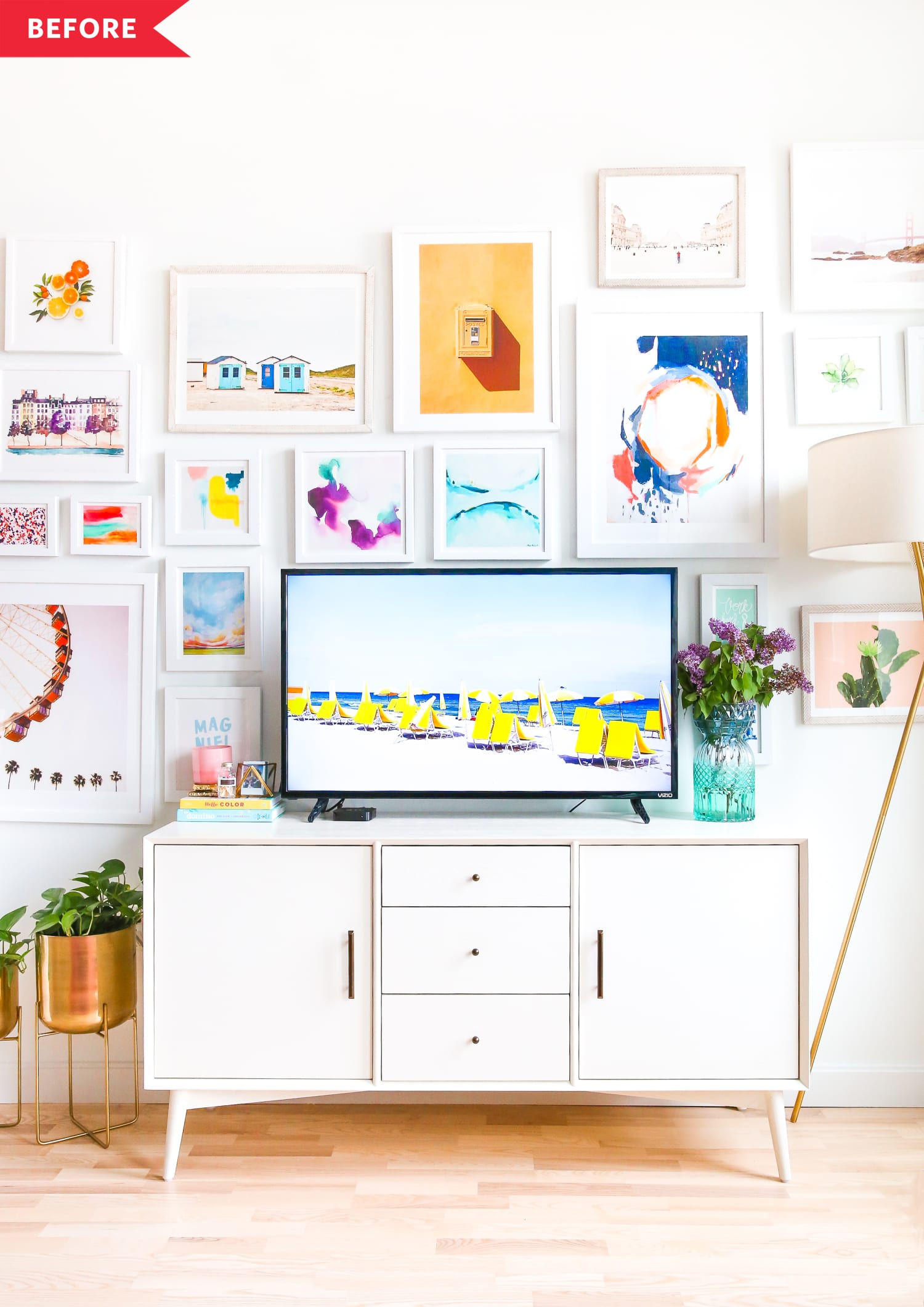 Before and After: A Genius Holiday-Ready Gallery Wall Redo for Just $40