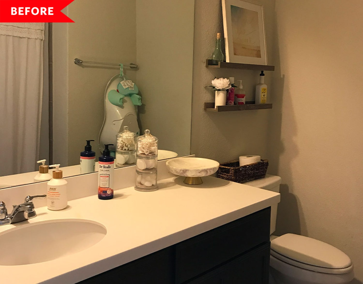 Before and After: It's Hard to Believe This Dramatic Bathroom Redo Cost Just $800