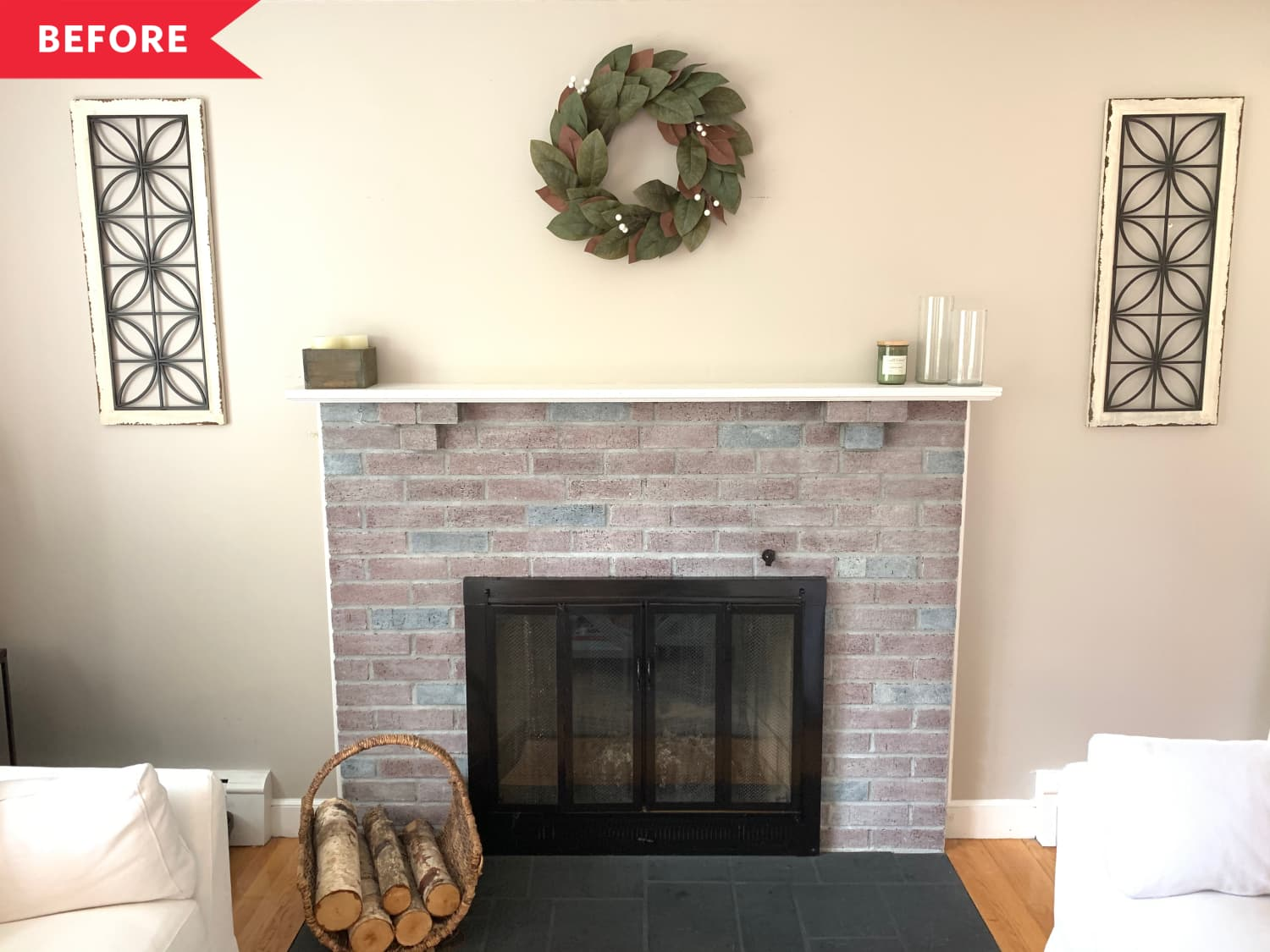 Before and After: A Nearly-New Fireplace for $100 (and a Day's Work)