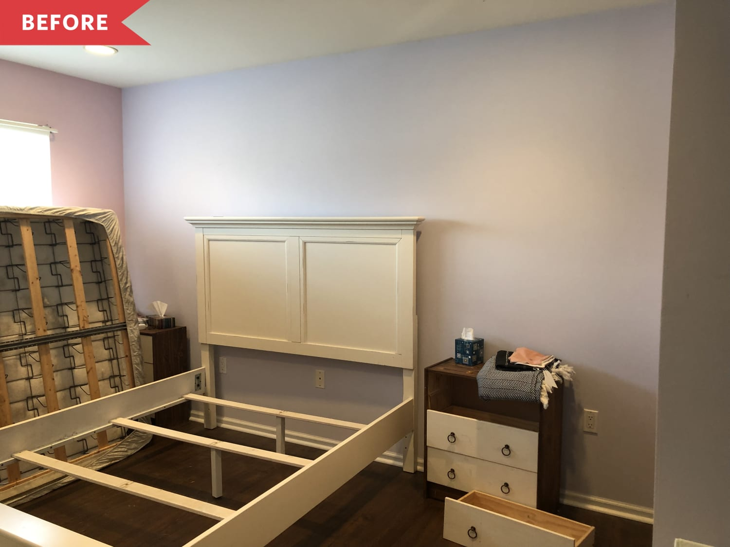 Before and After: This $500 Bedroom Redo Has The Easiest-Ever Gallery Wall Trick