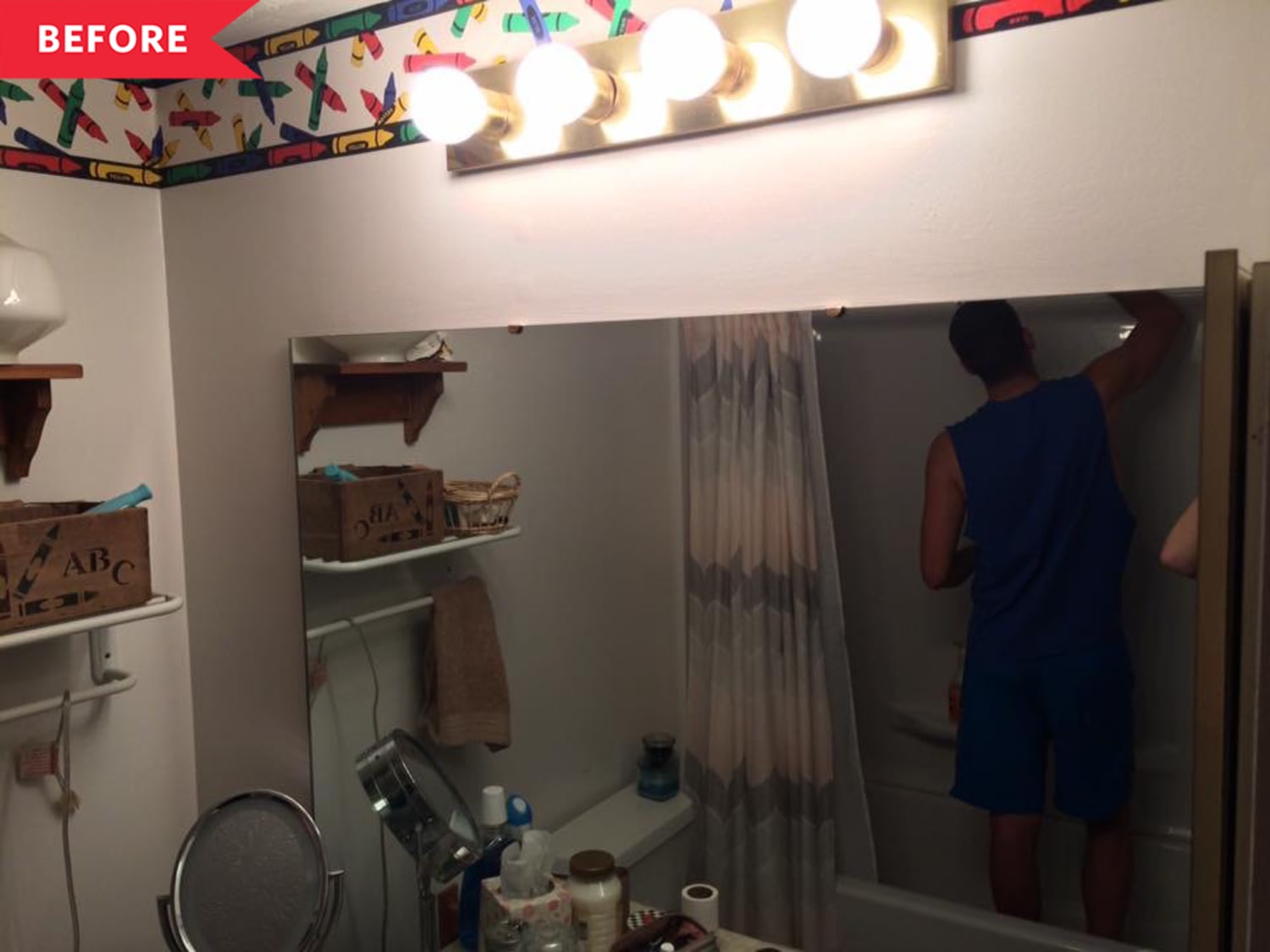 Before and After: A Bright, Cheery DIY Bathroom Overhaul for Just $1,500
