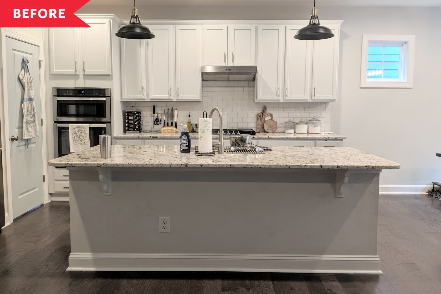Before & After: This Kitchen Island Got a Stylish $50 Makeover in Just One Day