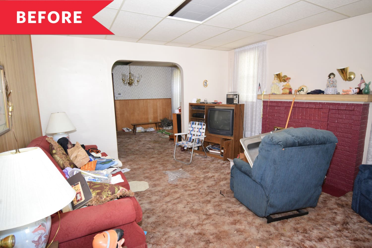 Before and After: This Living Room Redo Will Make You an Open Concept Believer
