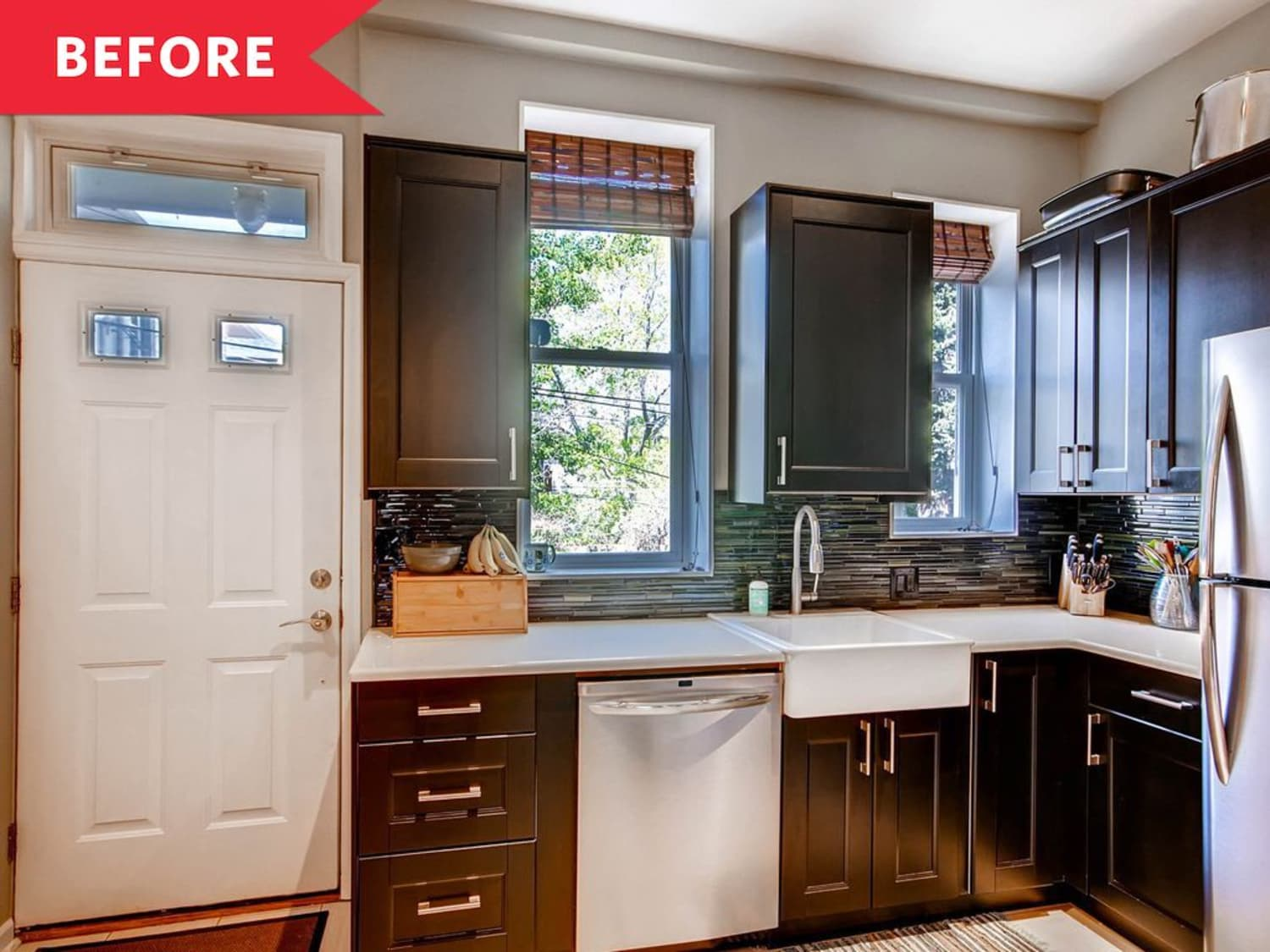Before & After: This Small, Builder-Grade Kitchen Gets a Major, IKEA-Filled Upgrade
