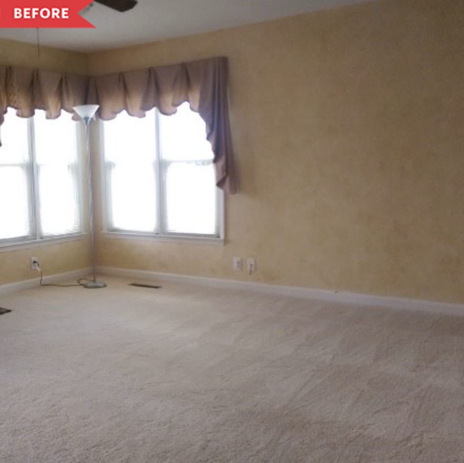 Before and After: A $0 One-Day Project Made This Living Room Mid-Century Cool