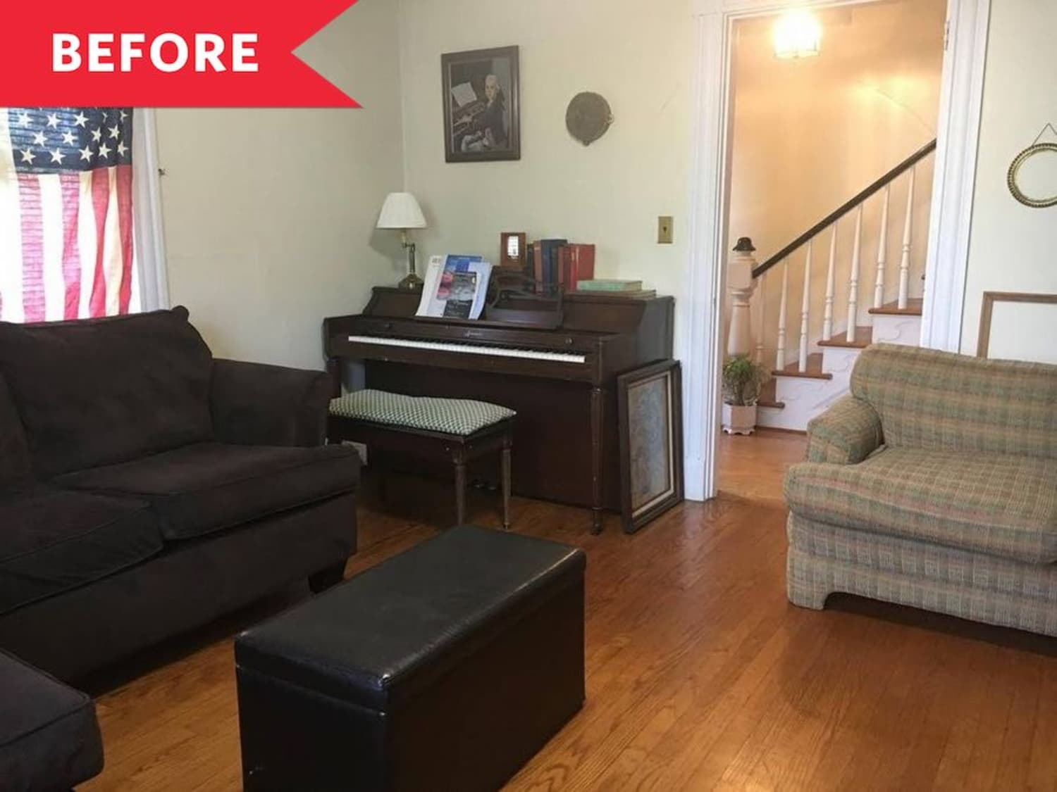 Before and After: This Living Room Looks Bigger and Brighter—No Reno Required