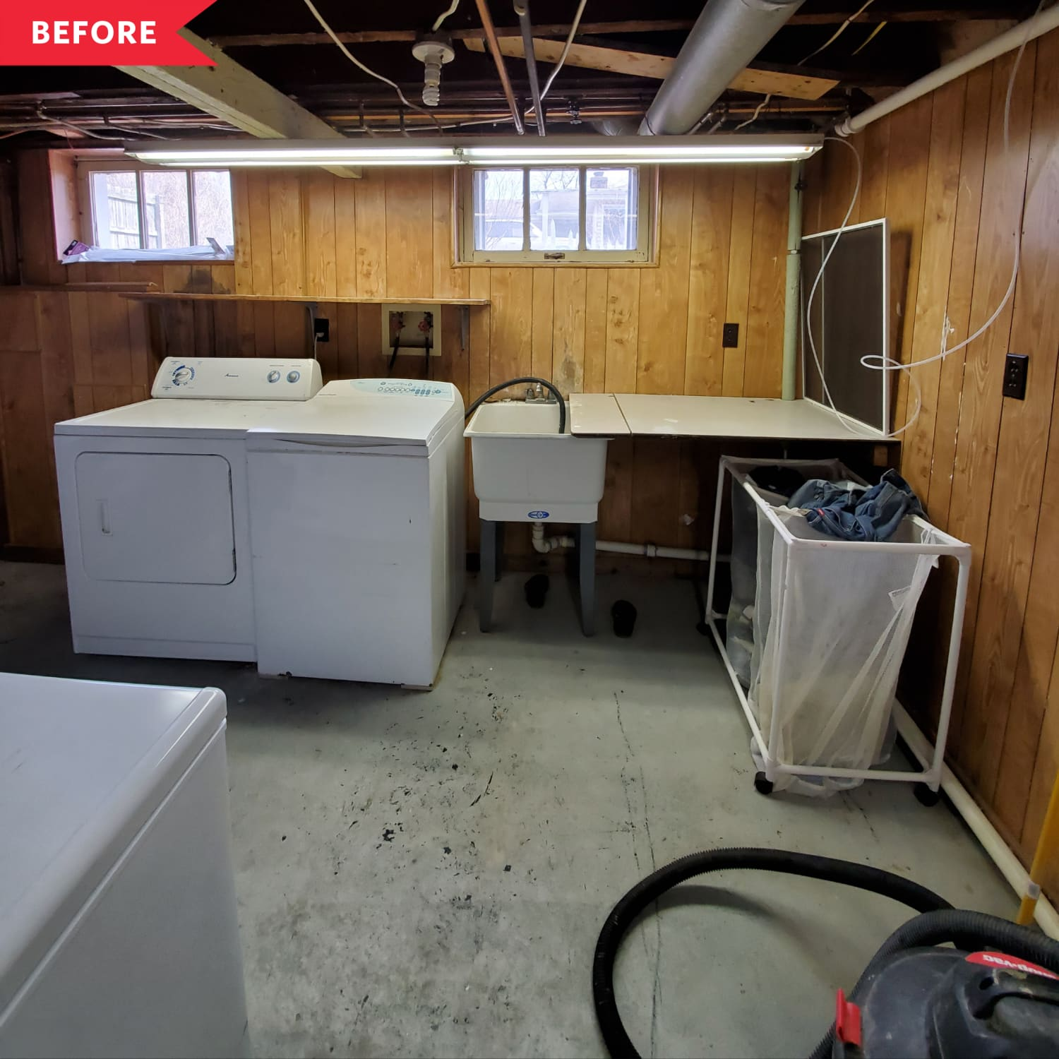 Before and After: A Cheery Laundry Room Makeover for Just $25