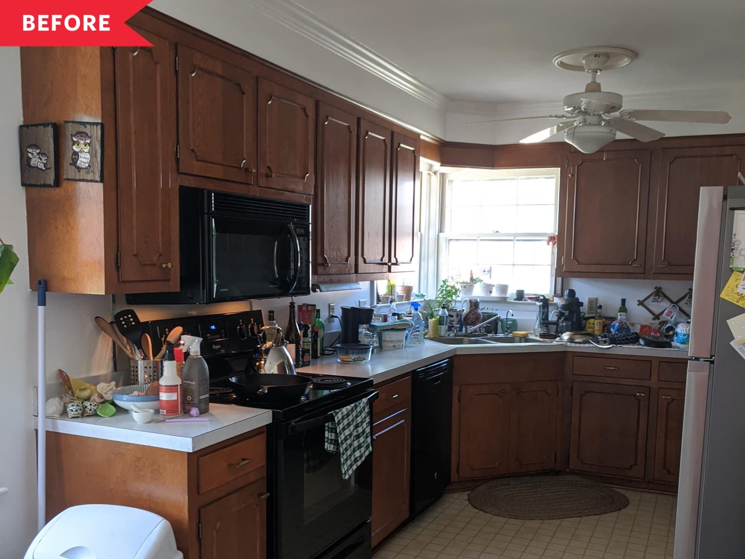 A Dim, Dated Kitchen Gets a Gorgeous DIY Makeover for $400