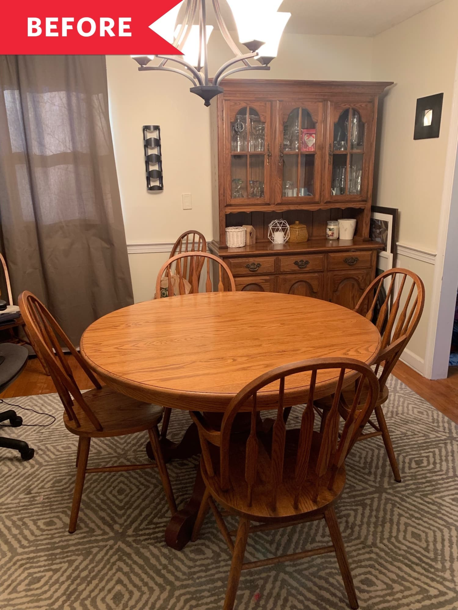 Before & After: A Little Bit of Paint Gives This '80s Dining Set a Fresh New Vibe