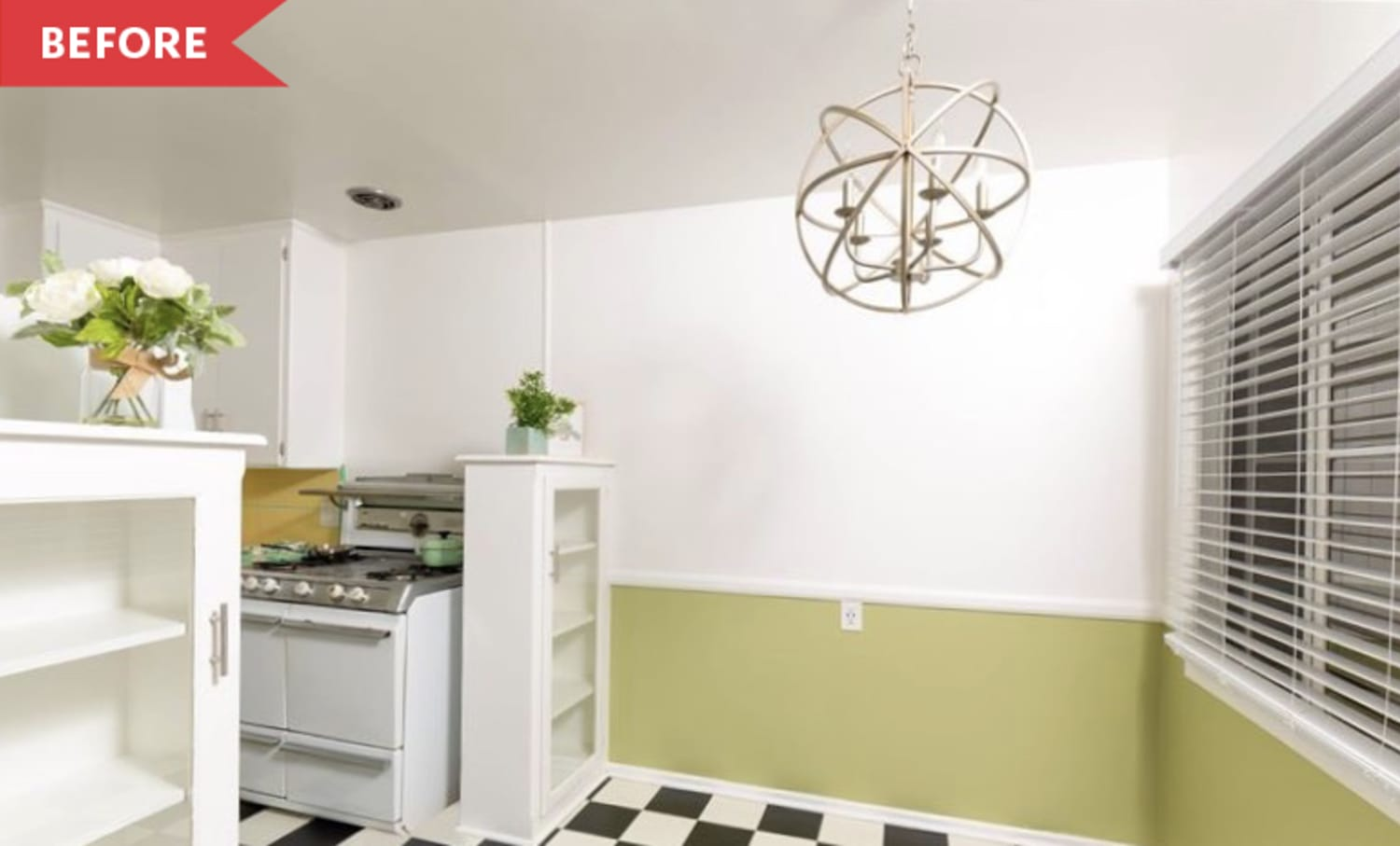 Before & After: This Rental Kitchen Got a $700 Vintage-Style Makeover