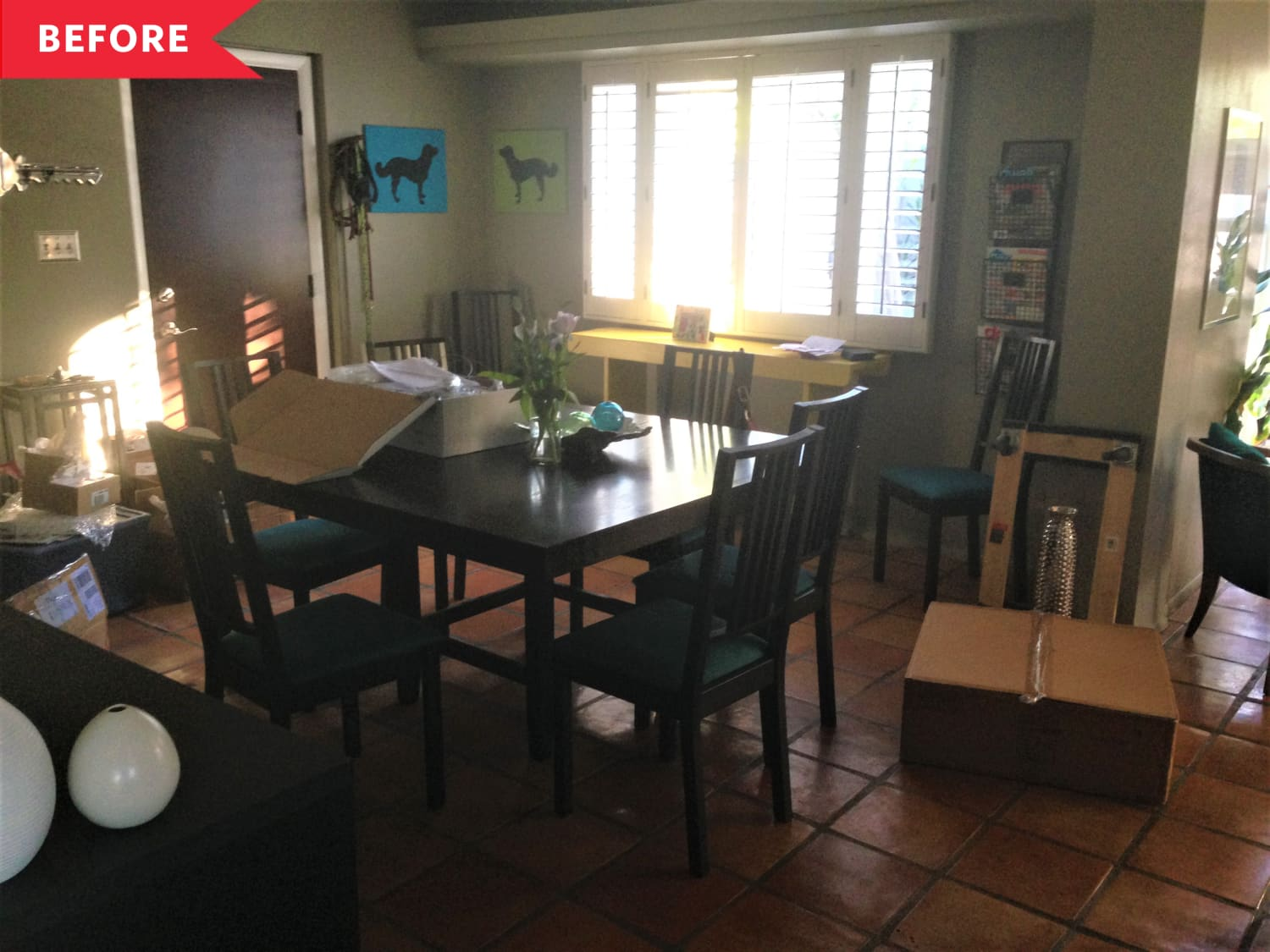 Before & After: A $1,500 Redo Brightened Up This Dining Room and Added Lots of Storage