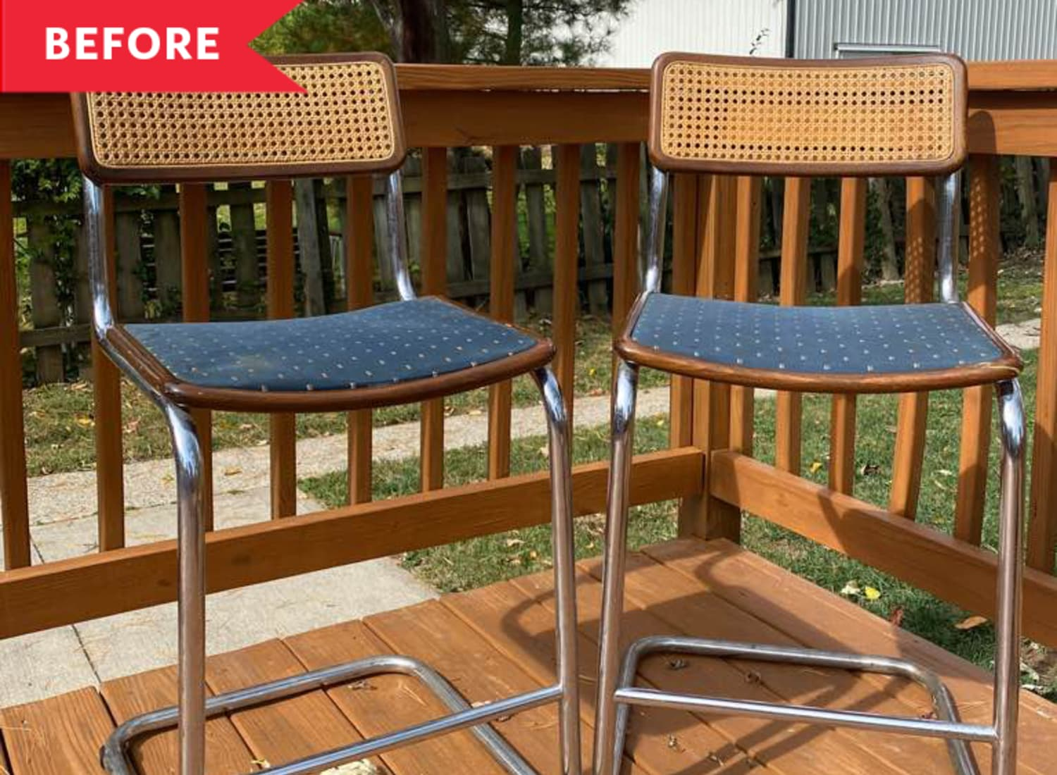 Before & After: These Dated Chairs Got Redone for Just $23 — Thanks to 2 Surprising Pantry Items