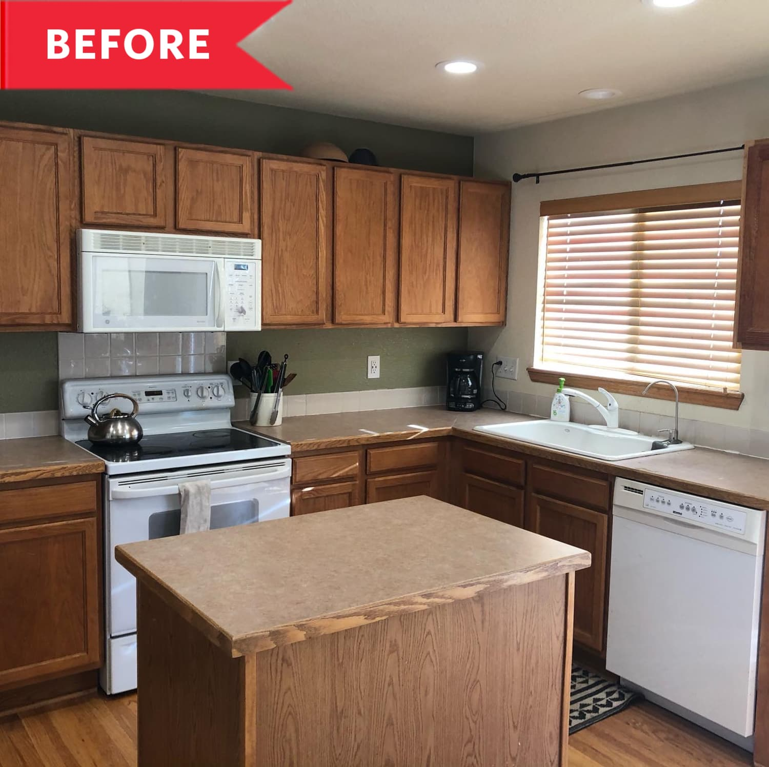 Before & After: A Dated Kitchen from the Early 2000s Gets a Sophisticated Revamp for $8,500