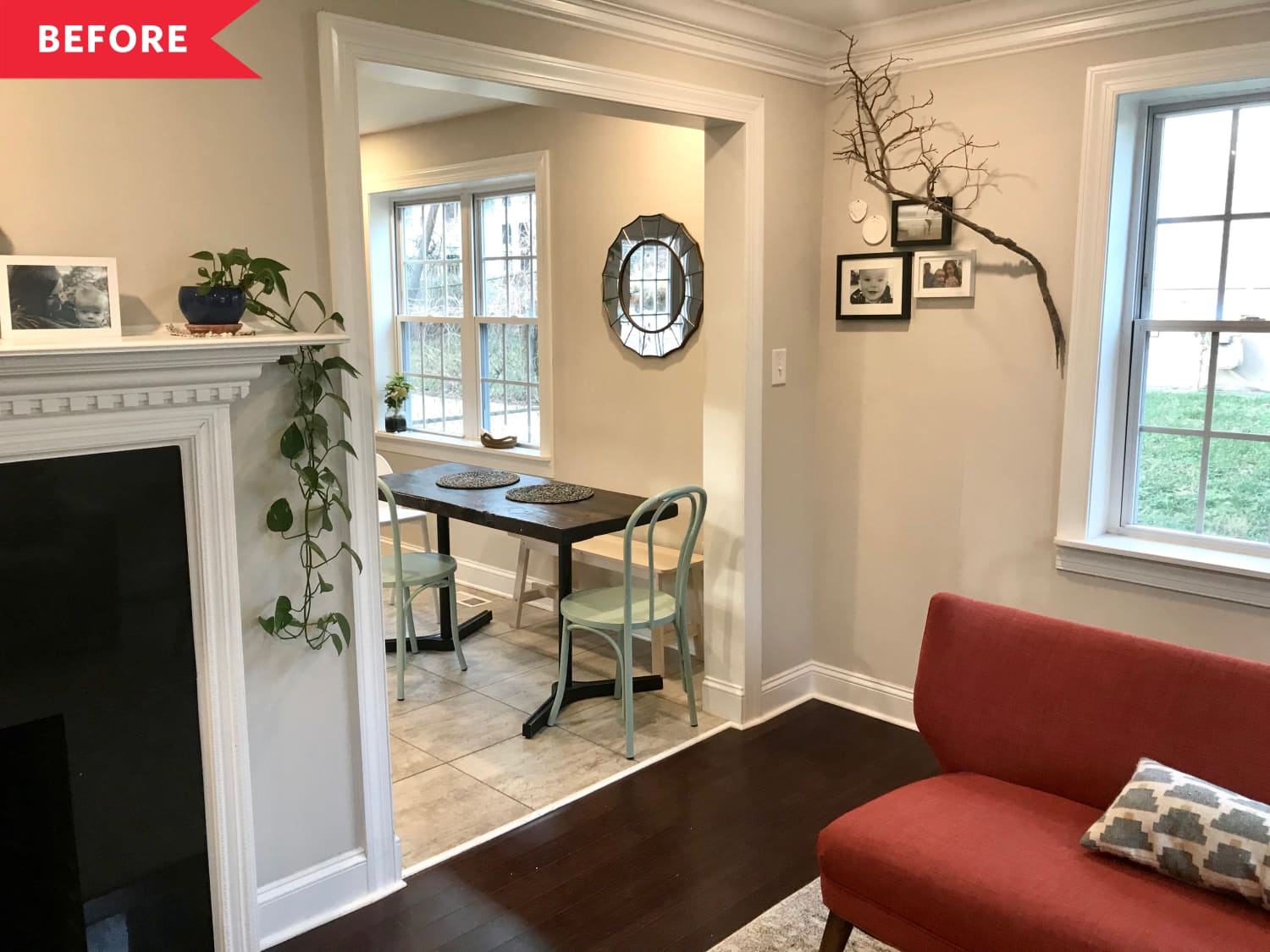 Before & After: An $1,800 DIY Redo Brilliantly Maximizes the Space in This Tiny Dining Area