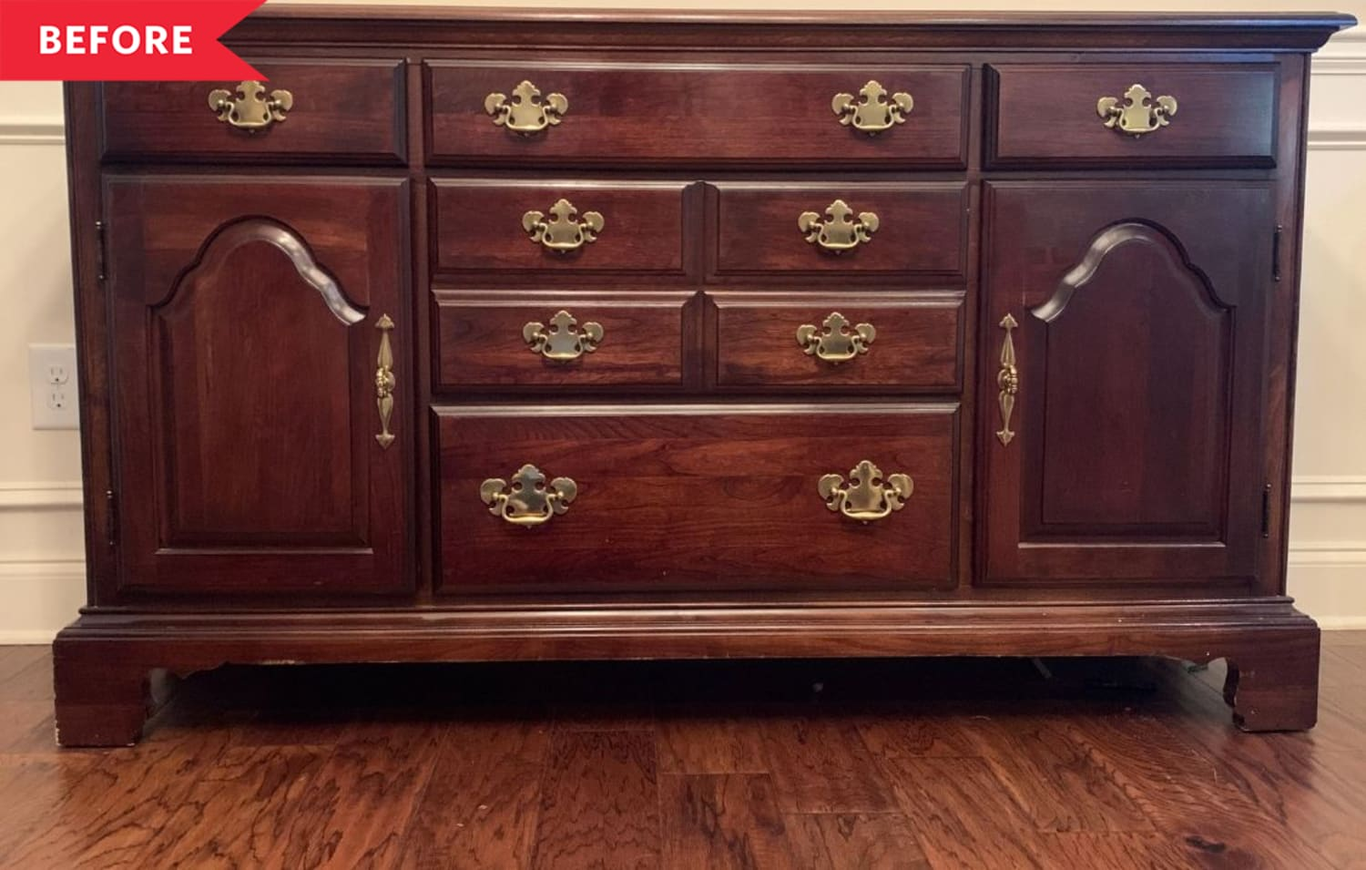 Before & After: A Traditional Sideboard Gets a Cool, Modern Makeover for Just $180