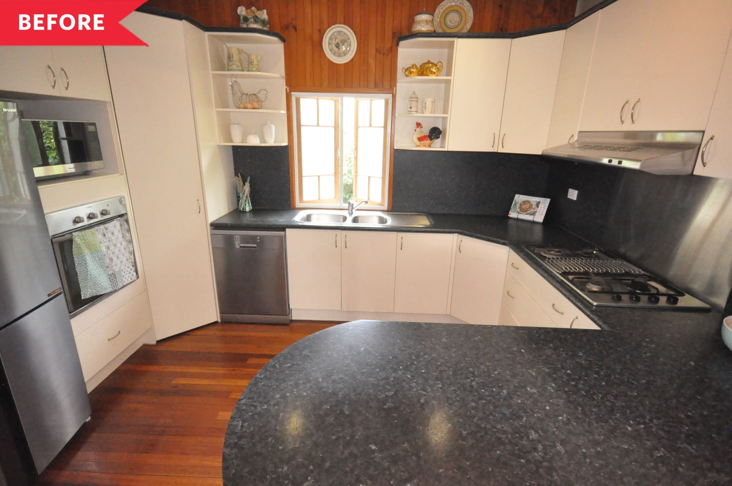 Before & After: This Bland Kitchen Gets Some Charm and Color for Just $860
