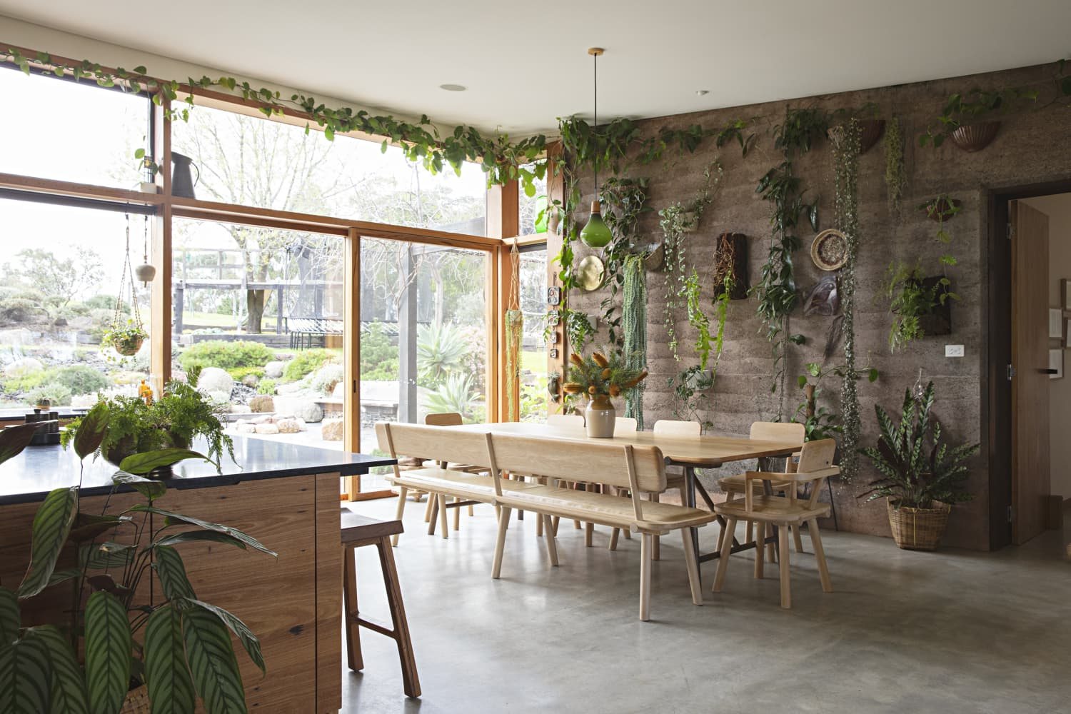 This Gorgeous Australian Home Has the Most Beautiful Plant Covered Wall We've Seen Yet