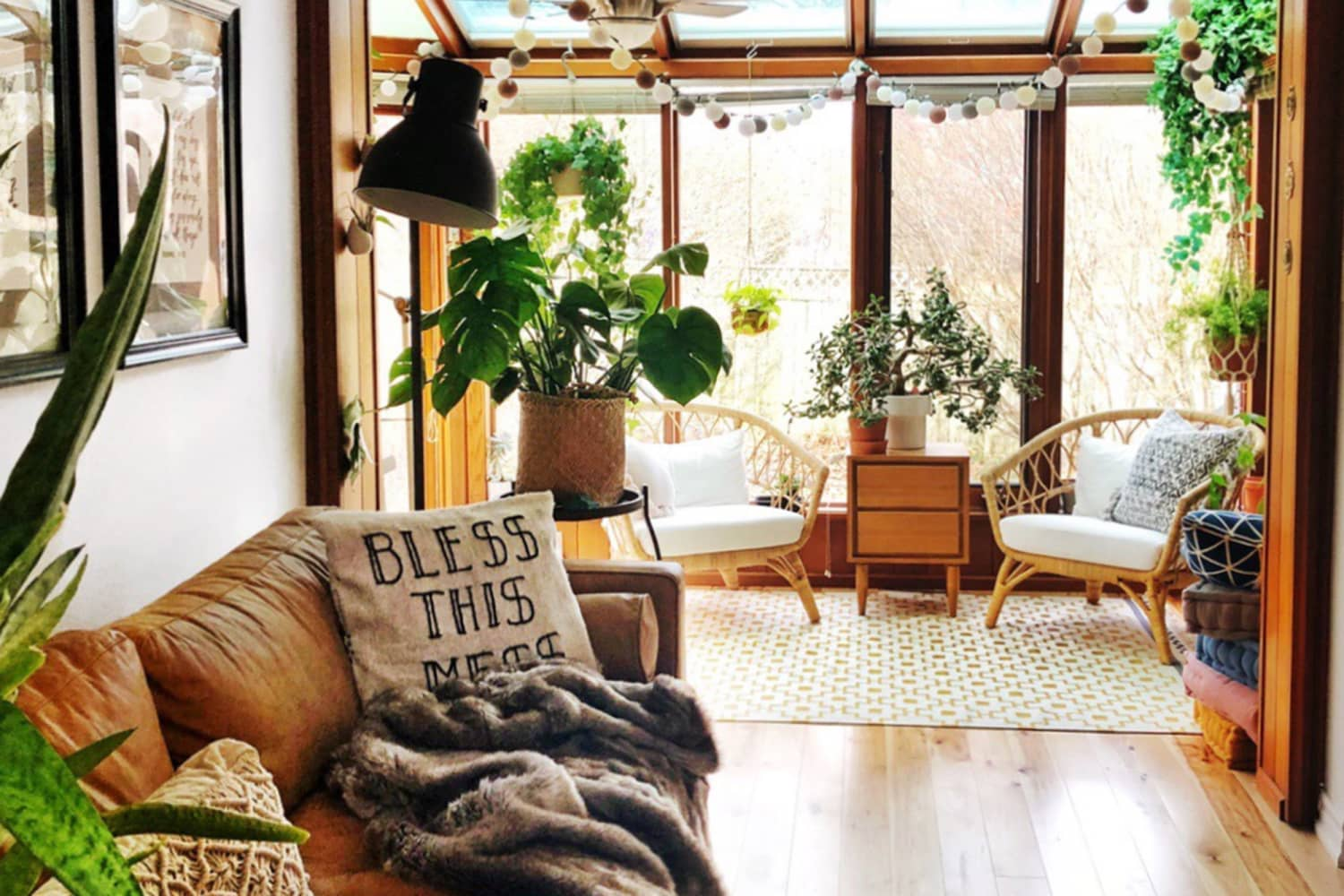 This Bright Boho House Has 75 House Plants… All With Their Own Names