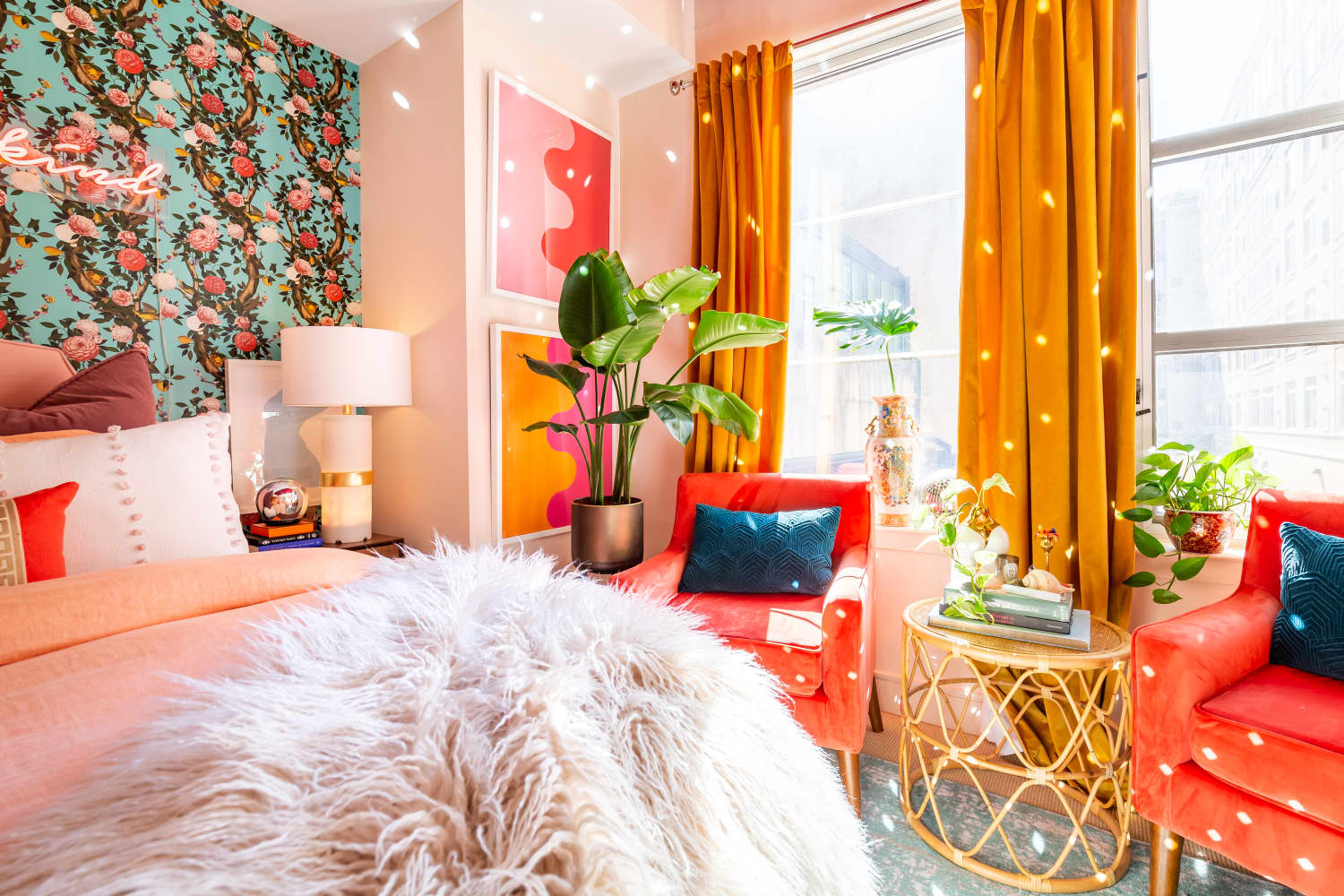 Get the Look: A Cheerful, Colorful Maximalist Apartment in DC