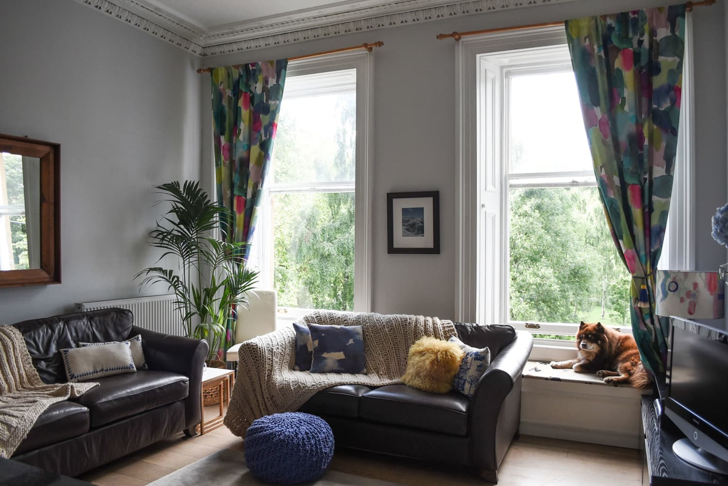 This Gorgeous Glasgow Home Features Bold Textiles, IKEA Hacks, and a DIY Budget Kitchen Makeover
