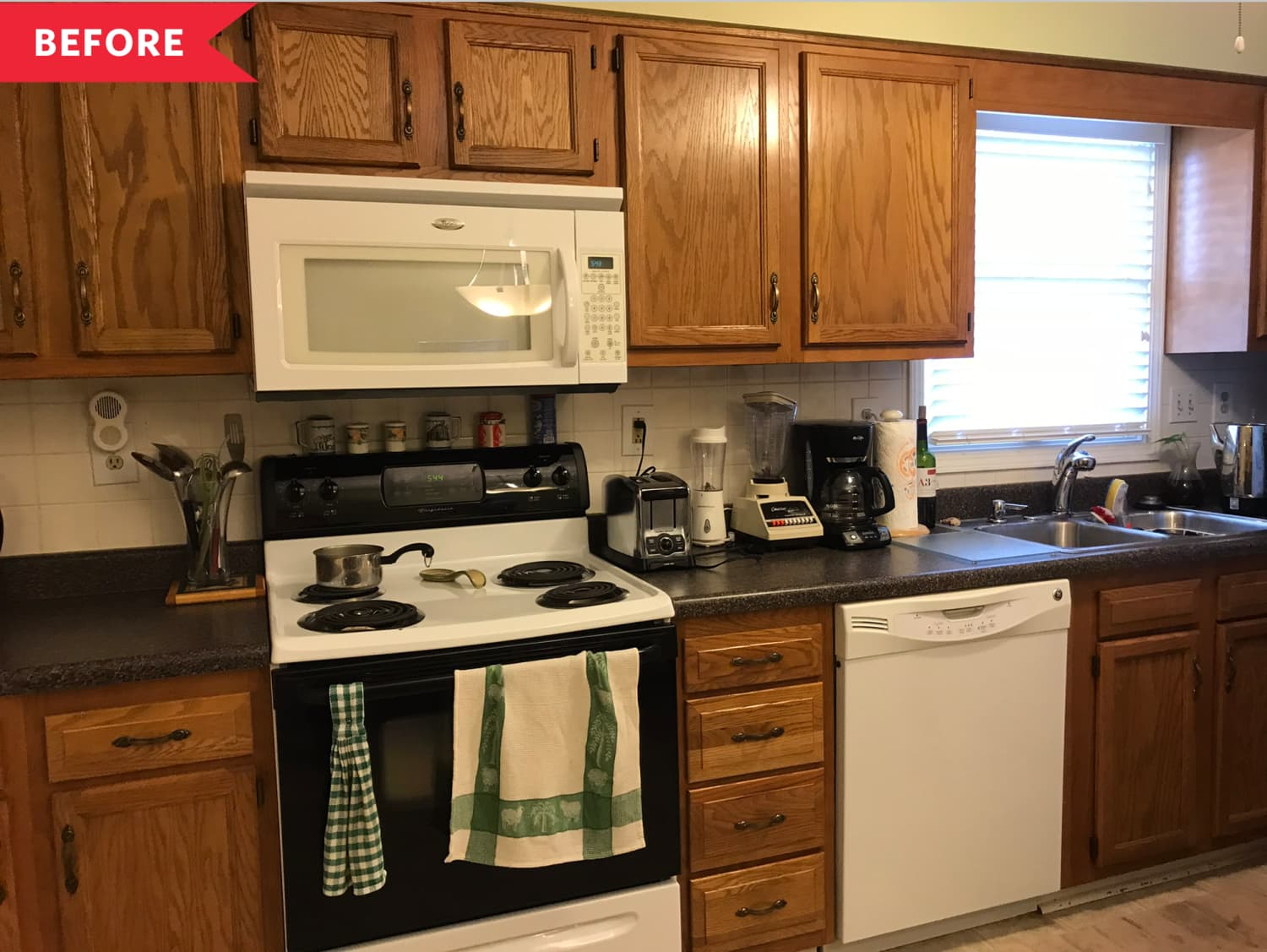 A Dull and Dated Townhome's Makeover Proves How Powerful Paint for Kitchen Cabinets Can Be