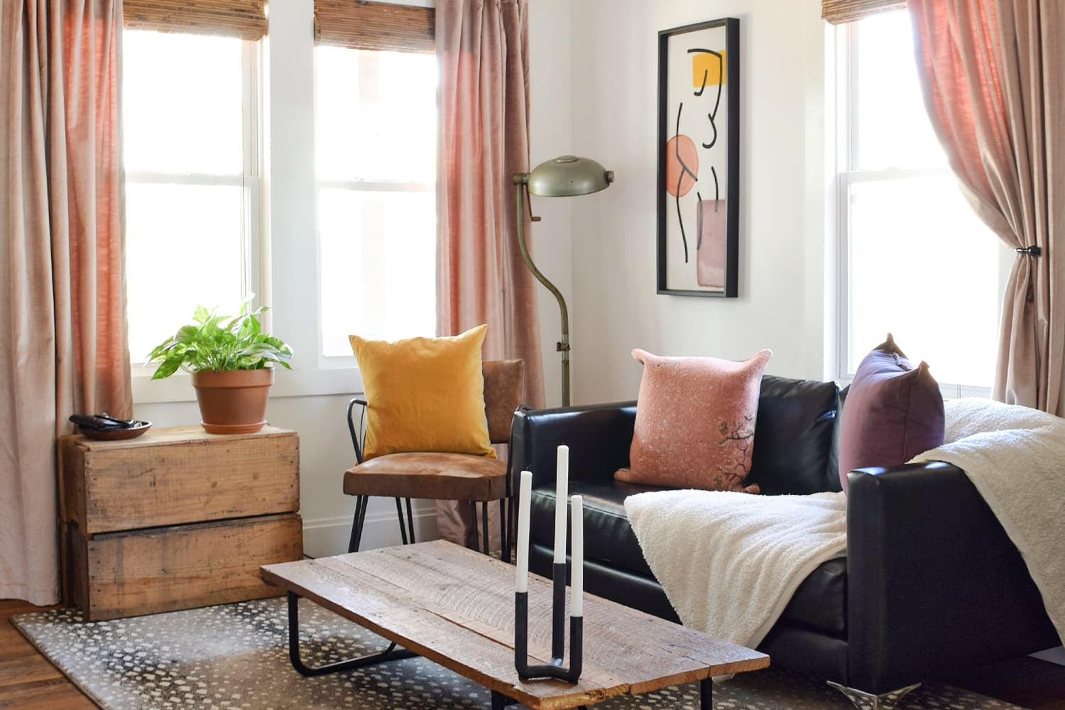 A Minimalism Coach Shows How to DIY Big Style in a Small Space (on an Even Smaller Budget)