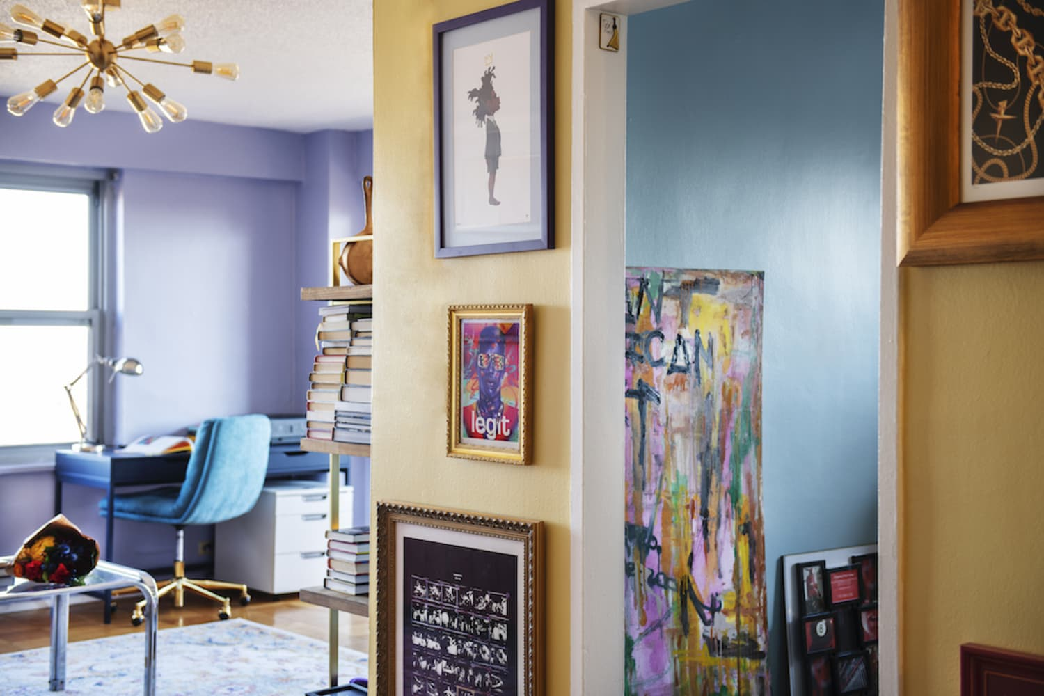 A Collector's Colorful Queens Apartment Is Inspired by Hip Hop Culture