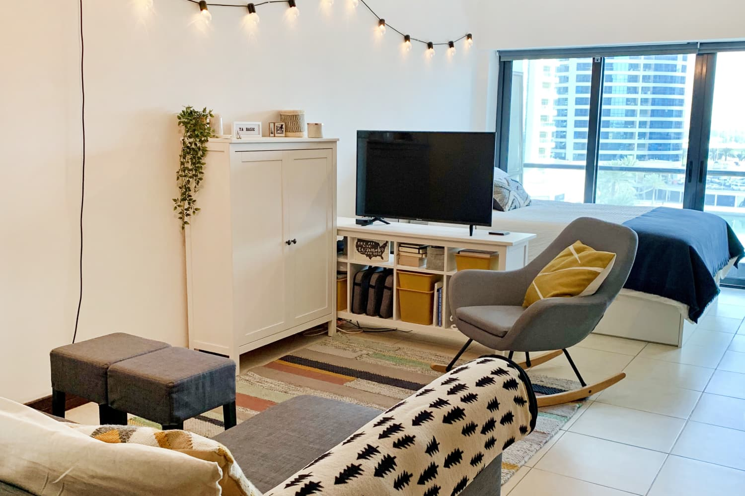 Creative Storage Solutions (and Lots of IKEA) Help Two People Share a 450-Square-Foot Studio
