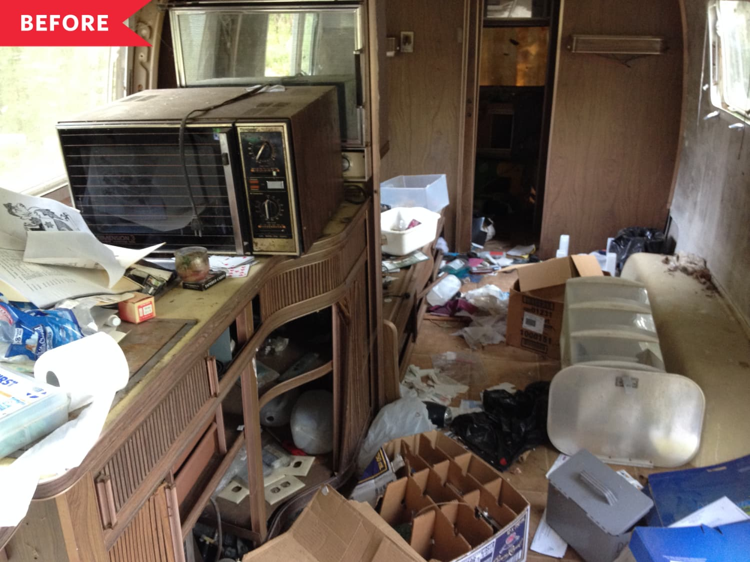 Before & After: This Previously Abandoned Airstream Now Has a Super-Gorgeous Kitchen